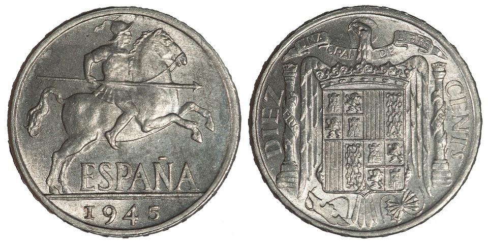 španělské mince