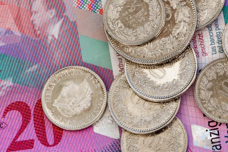 švýcarské franky