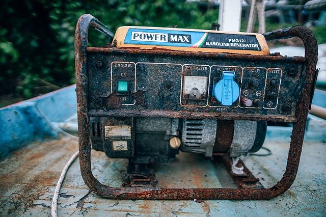 rezavý generátor