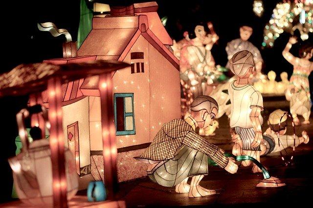 svítíci domek