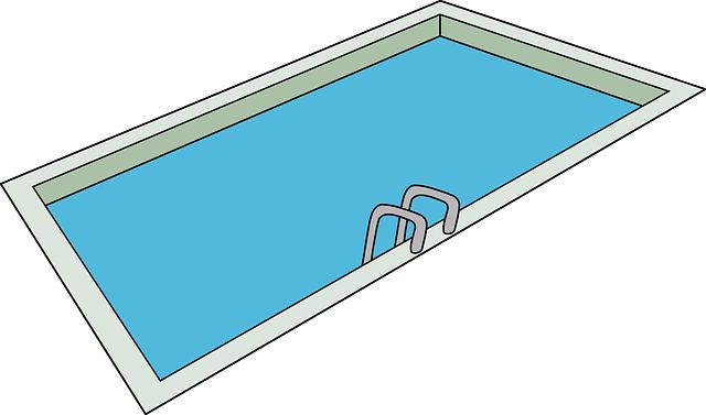 kreslený bazén